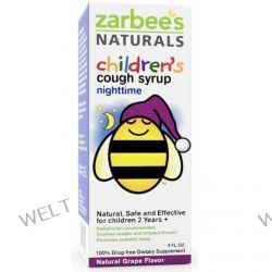 Zarbee's, Children's Nighttime Cough Syrup, Natural Grape Flavor, 4 fl oz