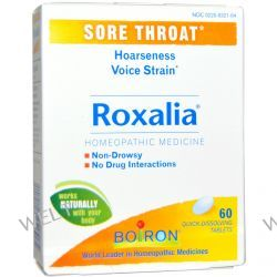 Boiron, Roxalia, Sore Throat, 60 Quick-Dissolving Tablets