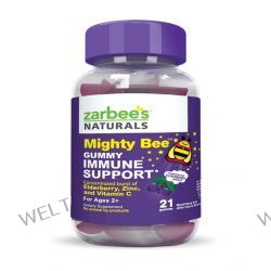 Zarbee's, Mighty Bee, Gummy Immune Support, Mixed Berry, 21 Gummies