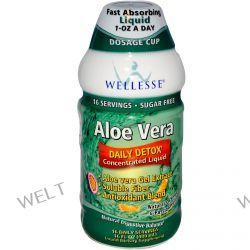 Wellesse Premium Liquid Supplements, Aloe Vera, Sugar Free, Natural Orange & Passionfruit, 16 fl oz (480 ml)