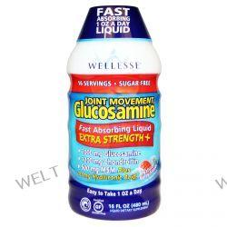 Wellesse Premium Liquid Supplements, Joint Movement Glucosamine, Natural Berry Flavor, 16 fl oz (480 ml)