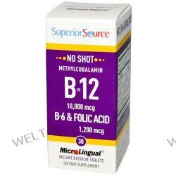 Superior Source, B-12 10,000 mcg / B-6 & Folic Acid 1,200 mcg, 30 MicroLingual Instant Dissolve Tablets