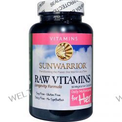 Sun Warrior, Raw Vitamins, Daily Multivitamin for Her, 90 Veggie Caps