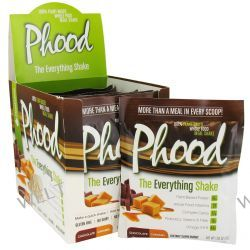 PlantFusion, Phood, 100% Plant-Based Whole Food Meal Shake, Chocolate Caramel, 12 Packets, 1.59 oz (45 g) Each