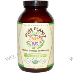 Pure Planet, Best of Greens, Organic Green Apple, 158 g
