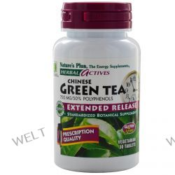 Nature's Plus, Herbal Actives, Chinese Green Tea, 750 mg, 30 Veggie Tabs