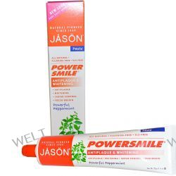 Jason Natural, PowerSmile, Antiplaque & Whitening Paste, Powerful Peppermint, 6 oz (170 g)