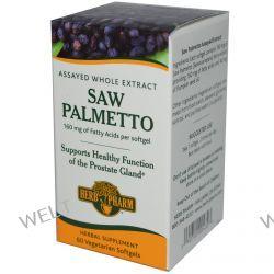 Herb Pharm, Saw Palmetto, 60 Softgels