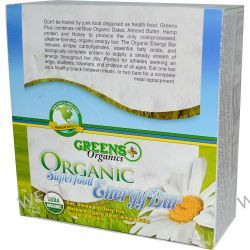 Greens Plus, Organic Superfood Energy Bar, 12 Bars, 1.6 oz (45 g) Each