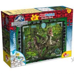 Liscianigiochi Jurassic World. Dwustronne Puzzle maxi (60 elementów)
