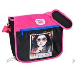 Paso Disney Violetta DVH-5180. Torba na ramię z klapą - czarno-różowa