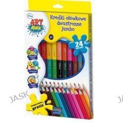 Astra - Disney Art. Attack - Kredki heksagonalne JUMBO podwójne12 sztuk = 24 kolory