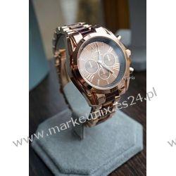 Zegarek Rzymski Różowe Złoto z bursztynem Biżuteria i Zegarki