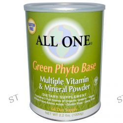 All One, Nutritech, Green Phyto Base, Multiple Vitamin & Mineral Powder, 2.2 lbs. (1000 g)