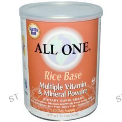 All One, Nutritech, Rice Base, Multiple Vitamin & Mineral Powder, 15.9 oz (450 g)