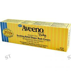 Aveeno, Baby, Soothing Relief Diaper Rash Cream, Fragrance Free, 3.7 oz (105 g)