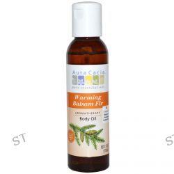 Aura Cacia, Aromatherapy Body Oil, Warming Balsam Fir, 4 fl oz (118 ml)