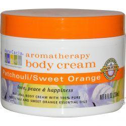 Aura Cacia, Aromatherapy Body Cream, Patchouli / Sweet Orange, 8 fl oz (236 ml)