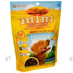 Zuke's, Mini Naturals, Healthy Moist Miniature Dog Treats, Roasted Chicken Recipe, 6 oz (170 g)