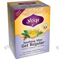 Yogi Tea, Get Regular, Soothing Mint, Caffeine Free, 16 Tea Bags, 1.12 oz (32 g)