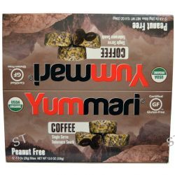 Yummari, LLC, Organic, Endurance Snack, Coffee, 12 Bites, 1.0 oz (28 g) Each