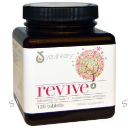 Youtheory, Revive Advanced Formula + Sustained Natural Energy, 120 Tablets