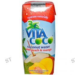 Vita Coco, Coconut Water with Peach & Mango, 11.1 fl oz (330 ml)
