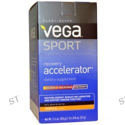 Vega, Sport, Recovery Accelerator, Tropical, 12 Packs, 0.96 oz (27 g) Each