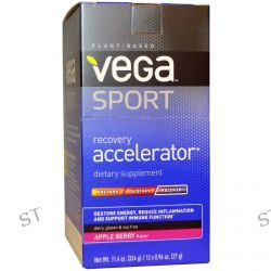 Vega, Sport, Recovery Accelerator, Apple Berry Flavor, 12 Packs, 0.96 oz (27 g) Each
