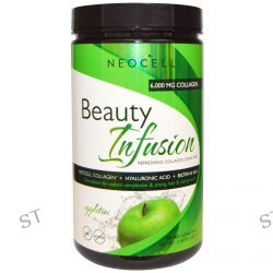 Neocell, Beauty Infusion, Refreshing Collagen Drink Mix, Appletini, 11.64 oz (330 g)