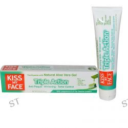 Kiss My Face, Triple Action Toothpaste with Natural Aloe Vera Gel, Cool Mint Freshness, 3.4 oz (96 g)