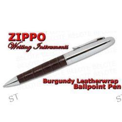 Zippo Burgundy Leather Wrap Ballpoint Twist Action Pen 41121 New
