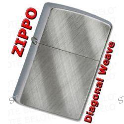 Zippo Diagonal Weave Brushed Windproof Lighter 28182 Lifetime GUARANTEE New L K