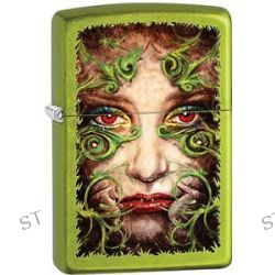 Zippo 2015 Woman Femme Fatale with Green Vines Lurid Filigree Face Lighter 28865