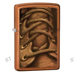 Zippo Toffee Boot Laces Military Work Windproof Lighter 28672 New