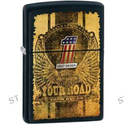 Zippo Harley Davidson HD Your Road Your Rules Black Matte Lighter 28350 L K New