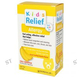 Homeolab USA, Kids Relief, Allergy for Kids 2+, Banana Flavor, 0.85 fl oz (25 ml)