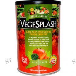 Garden Greens, VegeSplash, Super ORAC Concentrated Greens Drink Mix, Zesty Tomato, 18.6 oz (528 g)