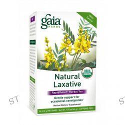 Gaia Herbs, RapidRelief Herbal Tea, Natural Laxative, Caffeine-Free, 20 Tea Bags, 1.55 oz (44 g)