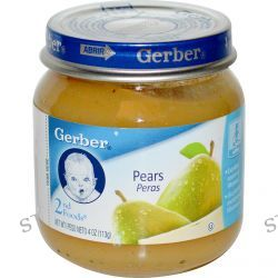 Gerber, 2nd Foods, Pears, Sitter, 4 oz (113 g)