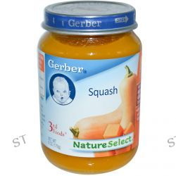 Gerber, 3rd Foods, NatureSelect, Squash, 6 oz (170 g)