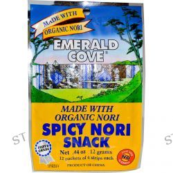 Great Eastern Sun, Emerald Cove, Spicy Nori Snack, 12 Packets of 4 Strips Each, 0.44 oz (12 g)