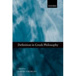 Definition in Greek Philosophy by David Charles, 9780198704553.