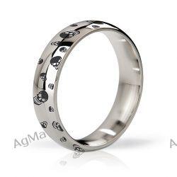 Mystim - Pierścień erekcyjny - His Ringness Earl polerowany i grawerowany 55m