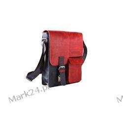 Skórzana młodzieżowa torba na ramię A4 dla studenta damska męska