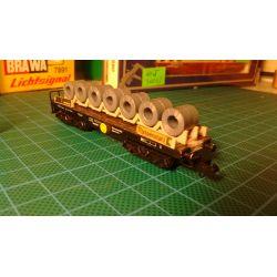 Wagon Platforma z kręgami, ARNOLD 0496