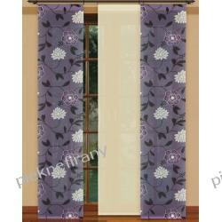 firany MAKARONY PANELE 50x250 ciemny fiolet