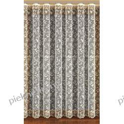 firanka tiulowa z pieknymi wzorkami biała i krem
