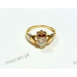Pierścionek złoty Claddagh