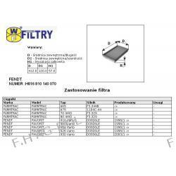 Wkład filtra kabiny SĘDZISZÓW-WA55-350/ FENDT NUMER:H816810140070,H916810140070 ,MANN -CU 4197  Żarówki